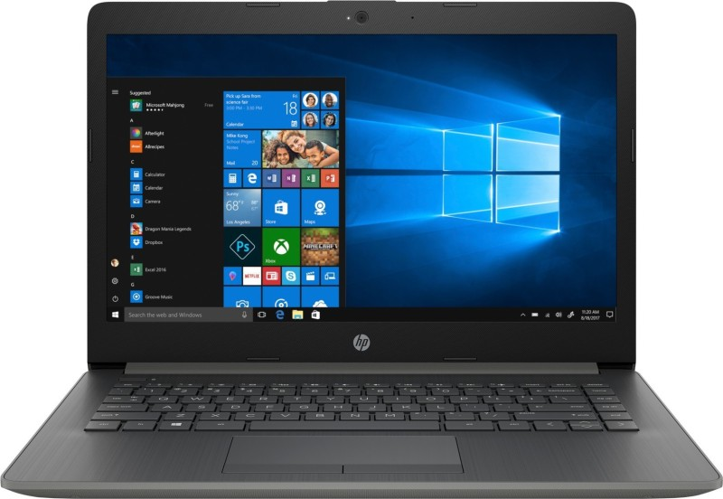 HP 14q Core i3 7th Gen - (4 GB/1 TB HDD/Windows 10 Home) 14q-cs0014TU Laptop(14 inch, Smoke Grey, 1.55 kg, With MS Office)
