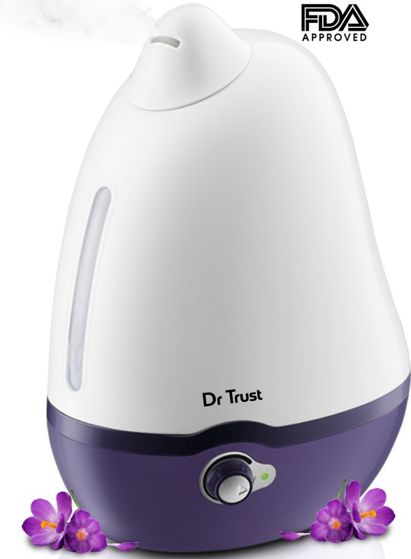 Dr. Trust Cool Mist Dolphin Humidifier and Ultrasonic Portable Room Air Purifier(White)