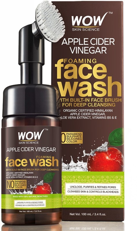 WOW Skin Science Apple Cider Vinegar Foaming Face Wash - No Parabens, Sulphate Face Wash(100 ml)