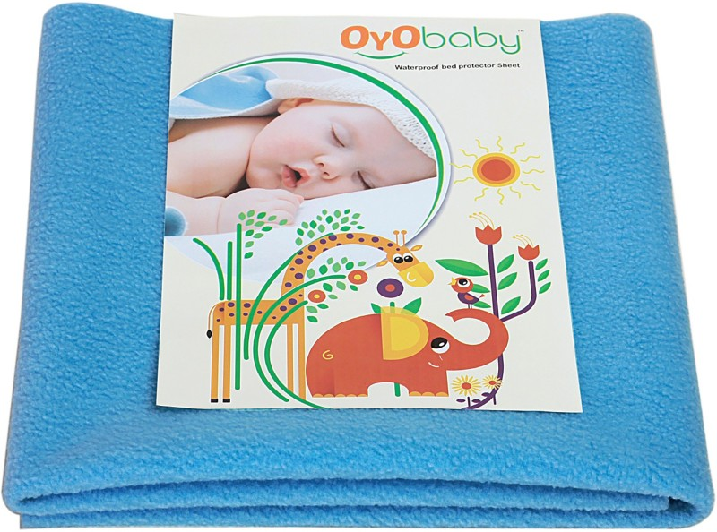 Oyo Baby Cotton Baby Bed Protecting Mat(Firoza, Large)