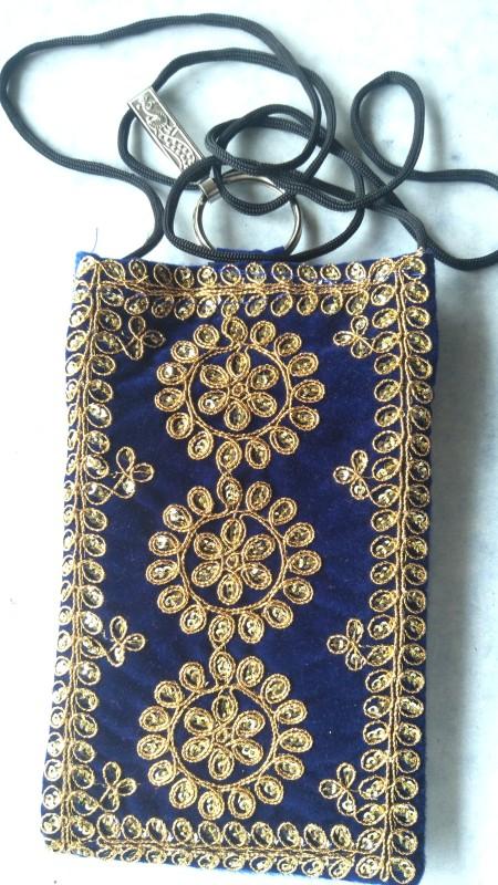 krishna bag siqvan dori Mobile Pouch(Blue)
