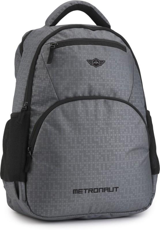Metronaut Hi storage Self design zipper 35 L Laptop Backpack(Grey)