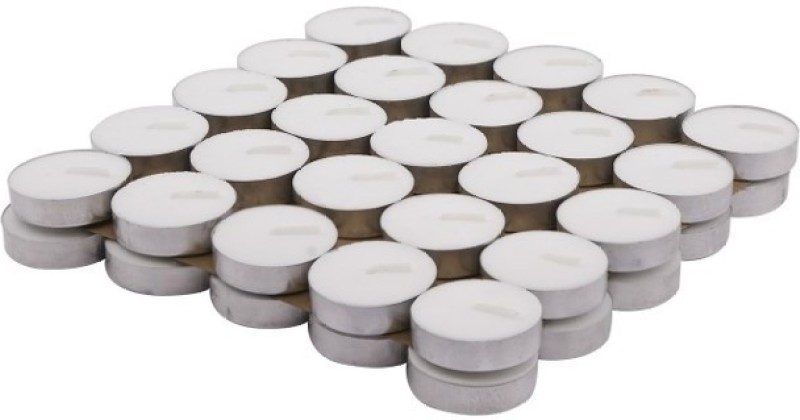 Flipkart SmartBuy 50Pcs White Candle(White, Pack of 50)