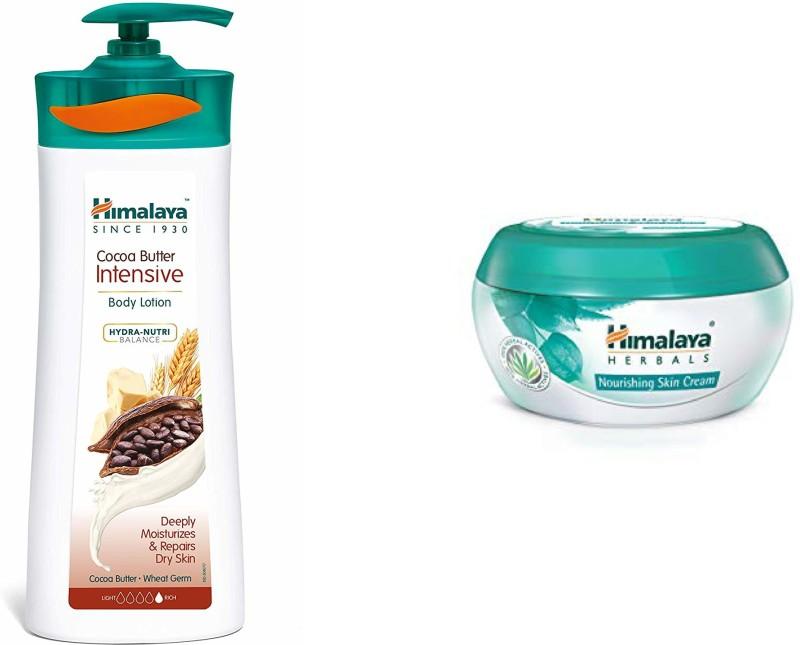Himalaya Herbals Cocoa Butter Intensive Body Lotion 400ML + Nourishing Skin Cream 50ML(450 ml)