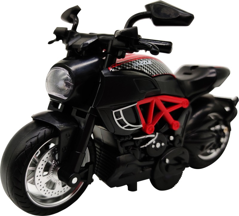 Miss & Chief 1:14 Pull Back Metal Die Cast Bike with Light and Sound(Red, Pack of: 1)