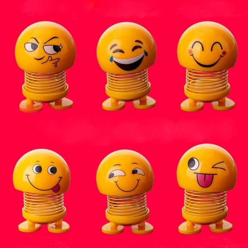 india fun zone cute funny shaking head different faces decorative emoji-6(Yellow)