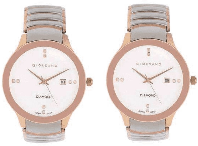 Giordano PinkyWhite101 Analog Watch - For Women