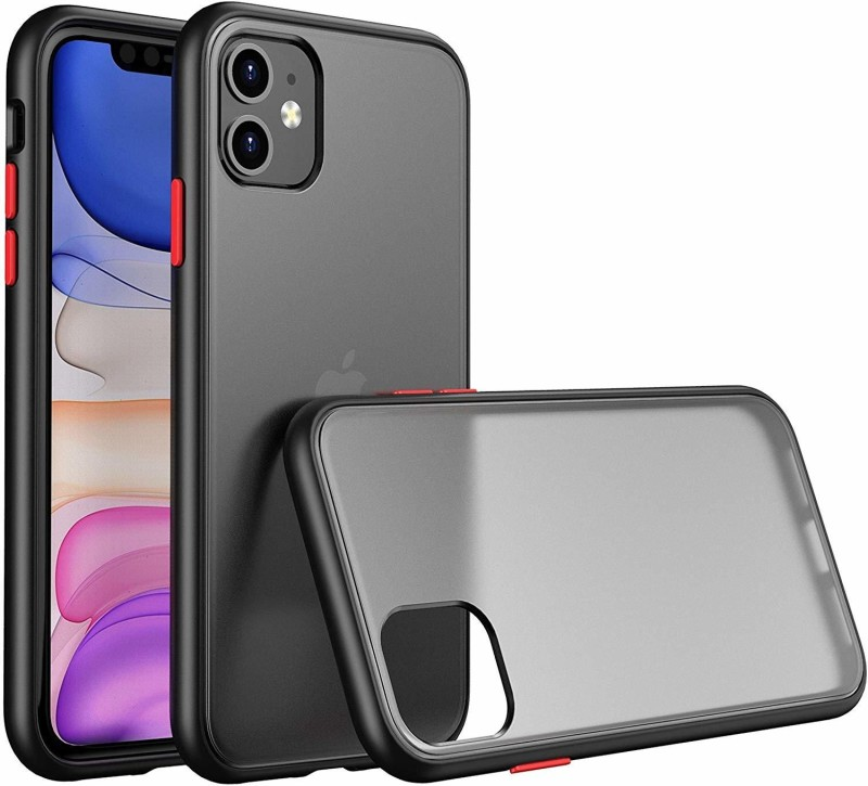 YOCOLOURS Back Cover for Apple iPhone 11(Black, Shock Proof)