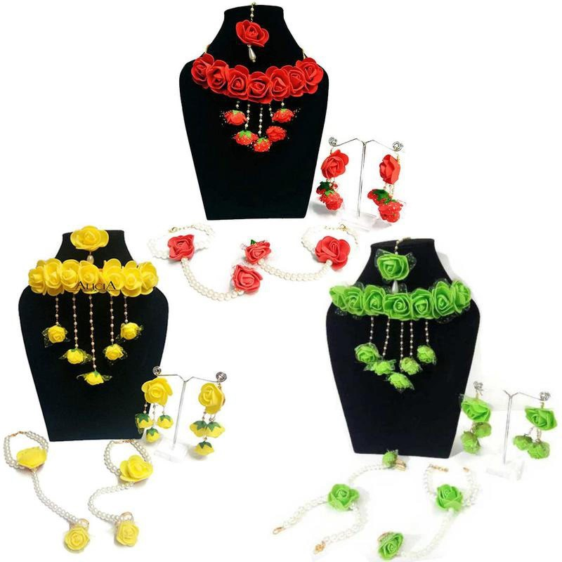 QUVYARTS Fabric Jewel Set(Yellow, Red, Green)