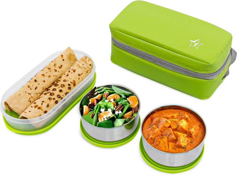 Flipkart SmartBuy Classic 3 Air Tight Containers Lunch Box(1300 ml)