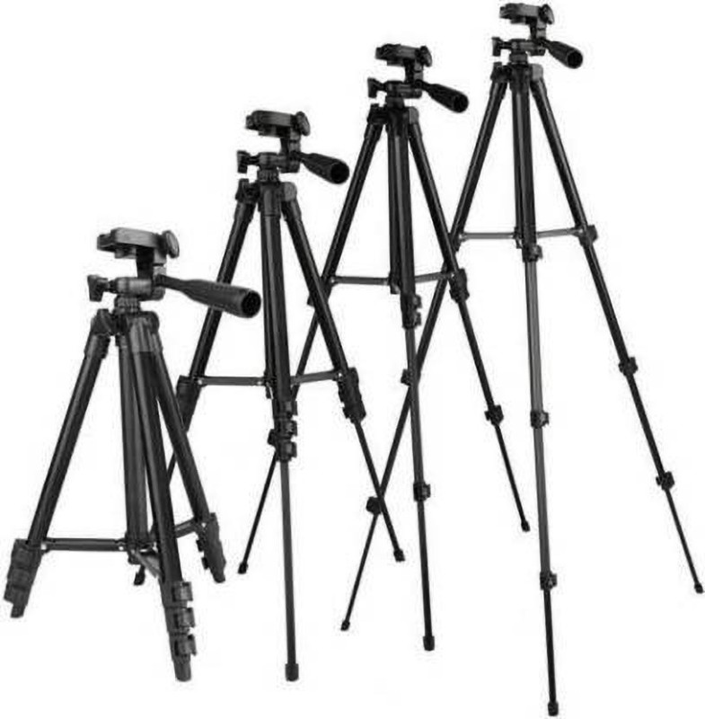 EFFULGENT (PACK OF 4) Best Collection 3120 Tripod Stand 360 Degree Portable Digital professional Tripod for DSLR & Video cameras Holder Tripod Stand Lightweight Aluminum Flexible Portable Three-way Head Compatible Tripod Mobile Holder All mobile, camera Tripod Tripod (Black, Supports Up to 1500 g) T
