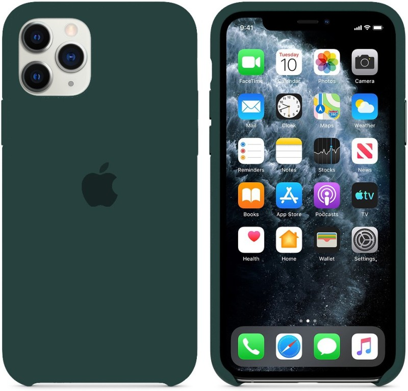 Yofashions Back Cover for Apple iPhone 11 Pro(Green, Silicon)