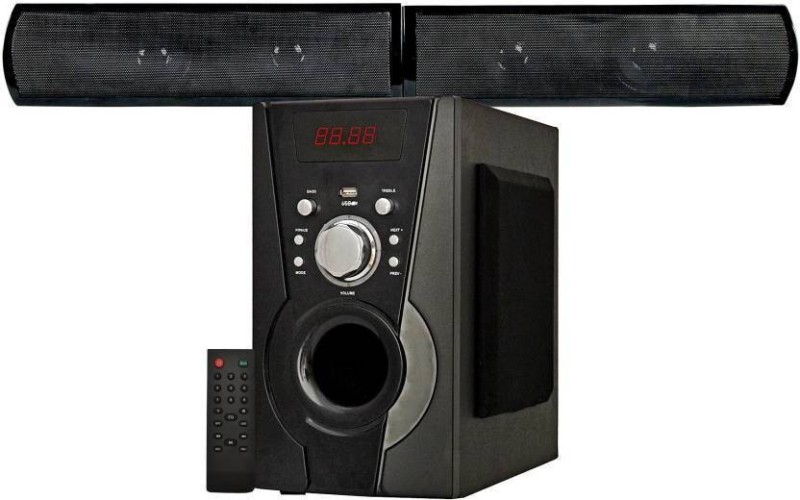 KRISONS Black Knight Bluetooth Sound Bar System Bluetooth Home Theatre(Black, 4.1 Channel)