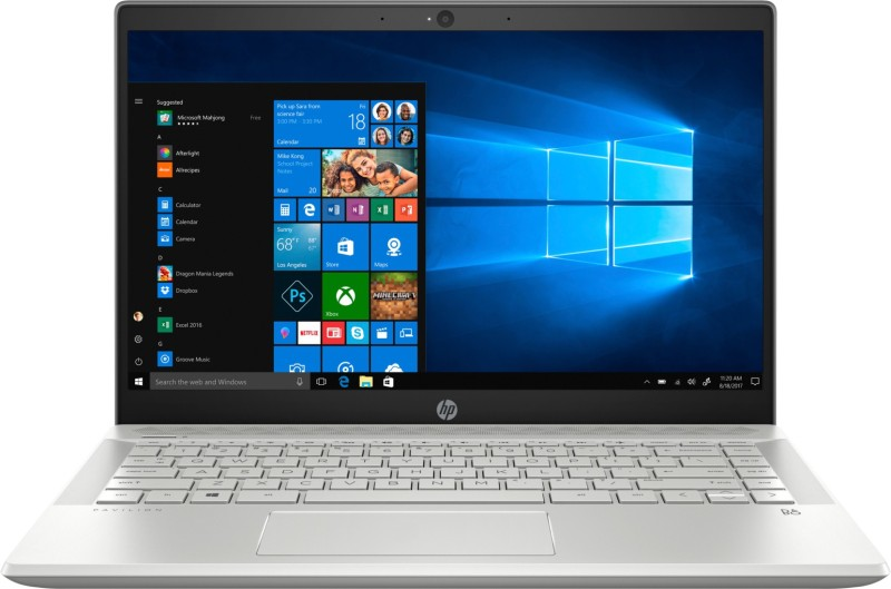 HP Pavilion 14-ce Core i5 10th Gen - (8 GB/512 GB SSD/Windows 10 Home) 14-ce3006TU Thin and Light Laptop(14 inch, Mineral Silver, 1.59 kg, With MS Office)