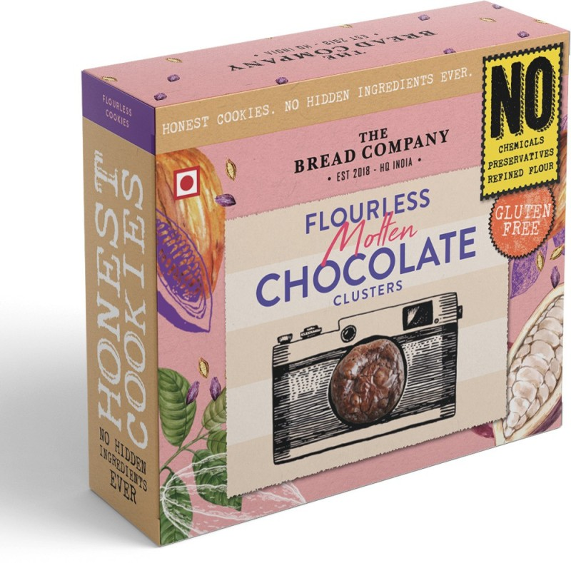 The Bread Company Gluten Free Flourless Molten Chocolate Clusters Cookies(120 g)