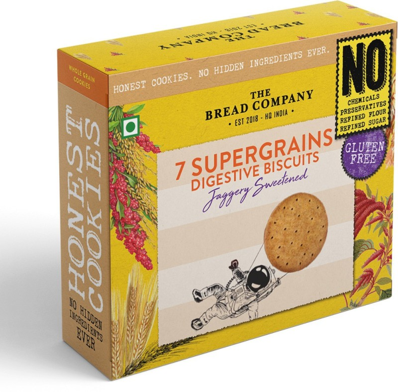 The Bread Company Gluten Free Seven Supergrains Digestive Biscuits(125 g)