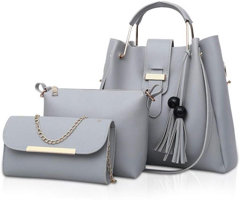 Fargo Women Grey Hand-held Bag