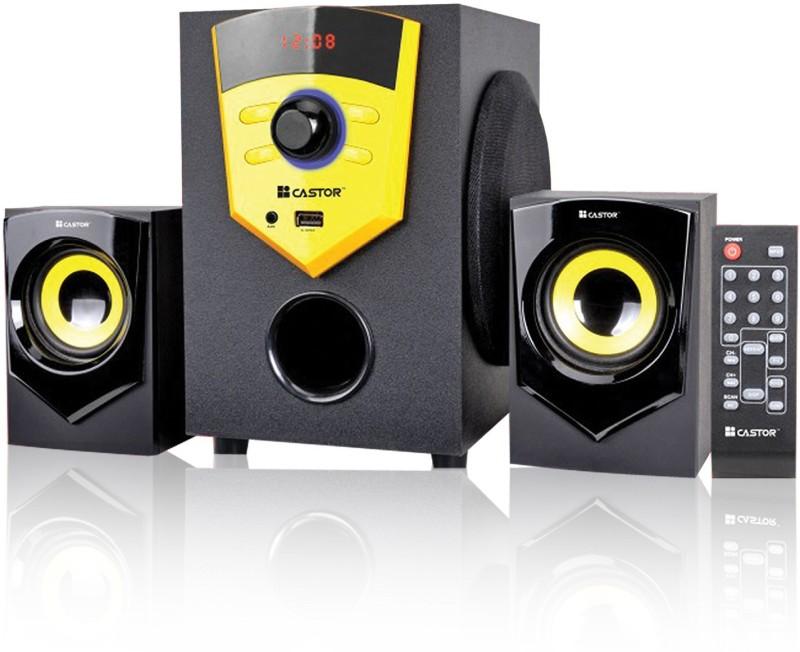 CASTOR CTE210 2.1 Channel Multimedia Home Theatre Speaker System 20 W Bluetooth Home Theatre(Black, 2.1 Channel)