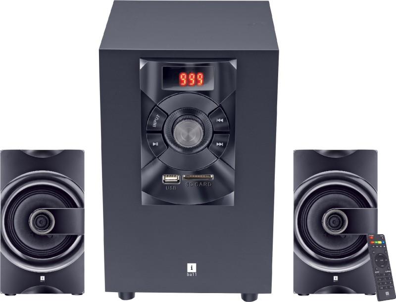 iball Soundking i3 16 W Bluetooth Laptop/Desktop Speaker(Black, 2.1 Channel)