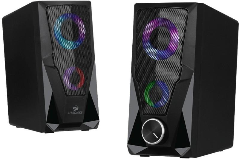 Zebronics ZEB-WARRIOR 10 W Laptop/Desktop Speaker(Black, Black, 2.0 Channel)