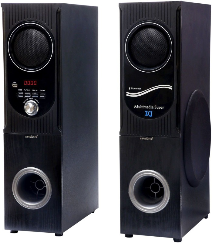 KRISONS Blast 75 W Bluetooth Tower Speaker(Black and Silver, 2.2 Channel)