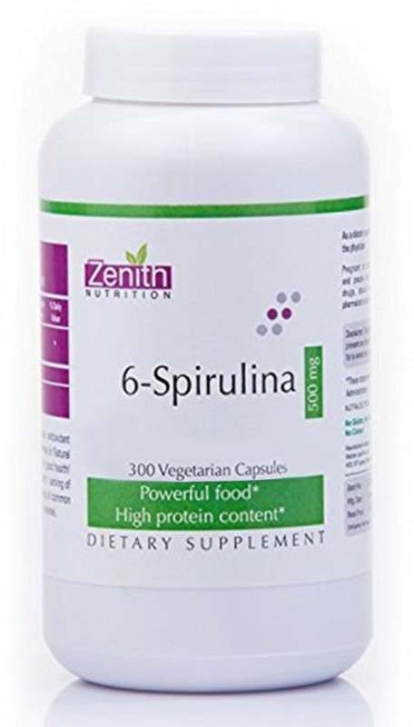 Zenith Nutrition 6-Spirulina - 500mg(300 No)