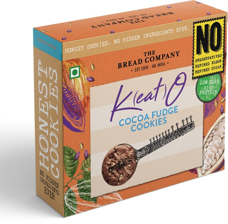 The Bread Company Keto Cocoa Fudge Cookies -Low Carb, High Protein   Less Than 8 net Carbs per 30 GMS(125 g)