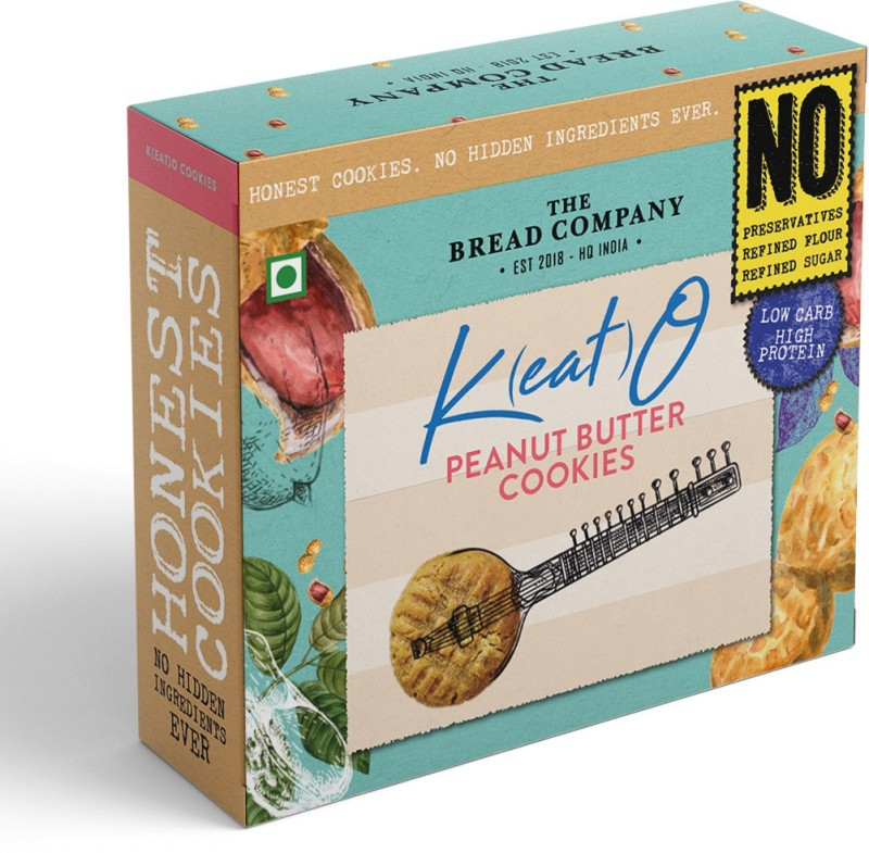 The Bread Company Peanut Butter Keto Cookies -Low Carb, High Protein   Less Than 8 net Carbs per 30 GMS(125 g)
