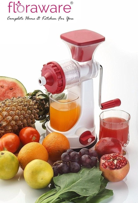 Floraware Plastic Fruit and Vegetable Juicer With Vacuum Locking System hand juicer ,Maroon Plastic Hand Juicer(Maroon)