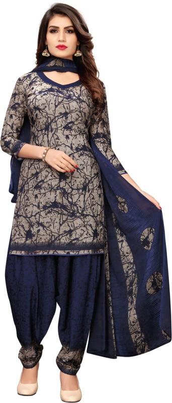 Saara Crepe Geometric Print, Printed Salwar Suit Material(Unstitched)