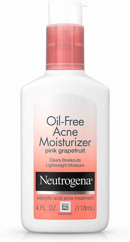 Neutrogena Oil-Free Acne Moisturizer, Pink Grapefruit, 4 Fluid Ounce(118 ml)