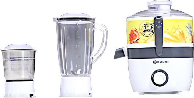 Karvi COPPER 550G 550 Juicer Mixer Grinder(Grey, 2 Jars)