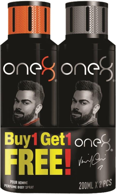 One8 By Virat Kohli One8 Deo Buy1 Get 1 Free combo Perfume Body Spray - For Men(400 ml, Pack of 2)