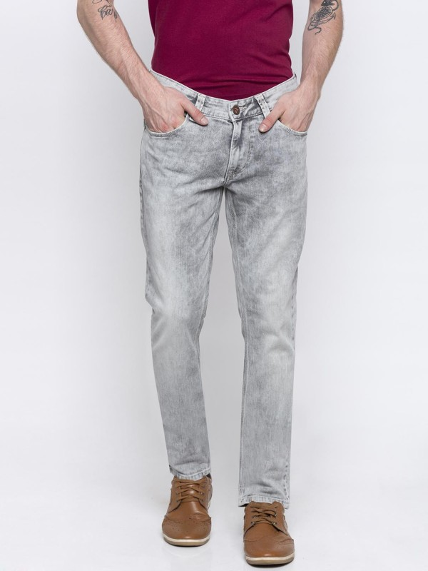 Spykar Skinny Men Grey Jeans
