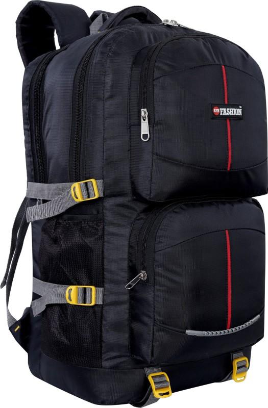 AFN FASHION 55L TRAVEL BACKPACK FOR OUTDOOR SPORT HIKING Rucksack - 55 L(Black)