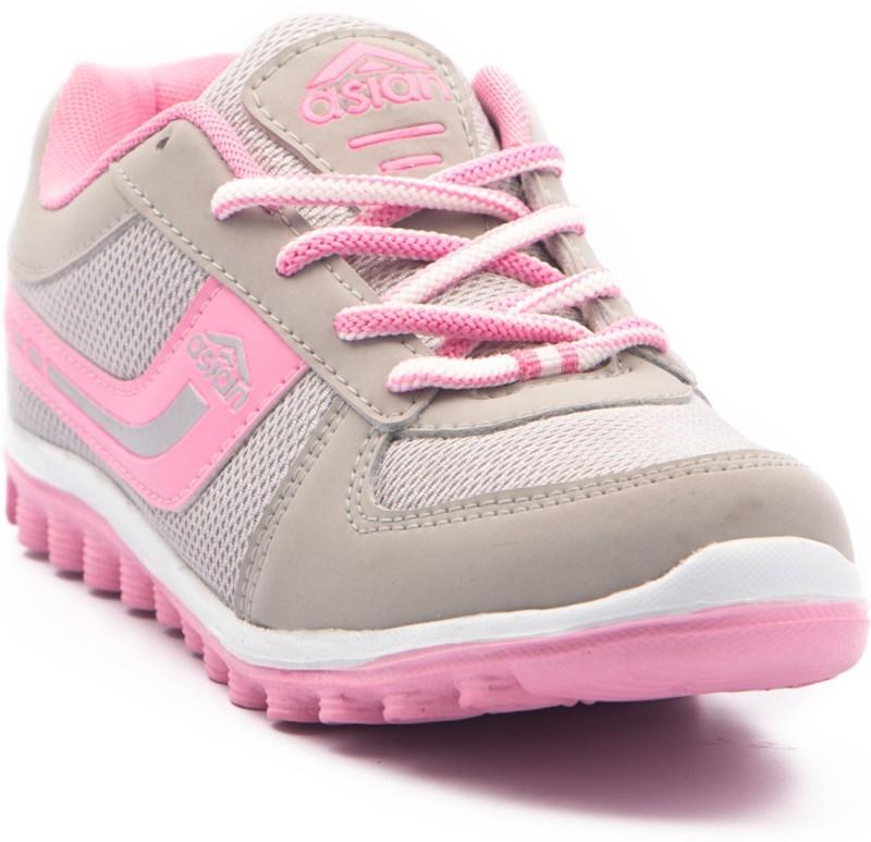 Asian Running Shoes For Women(Pink, Grey)