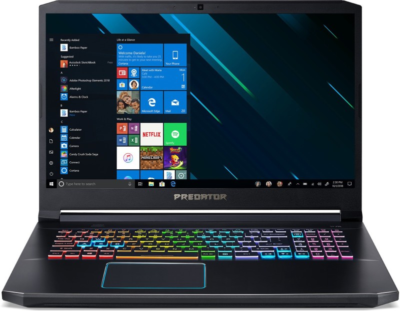 Acer Predator Helios 300 Core i7 9th Gen - (16 GB/2 TB HDD/256 GB SSD/Windows 10 Home/6 GB Graphics/NVIDIA Geforce GTX 1660 Ti) ph317-53-77ux Gaming Laptop(17.3 inch, Abyssal Black, 2.93 kg, With MS Office)