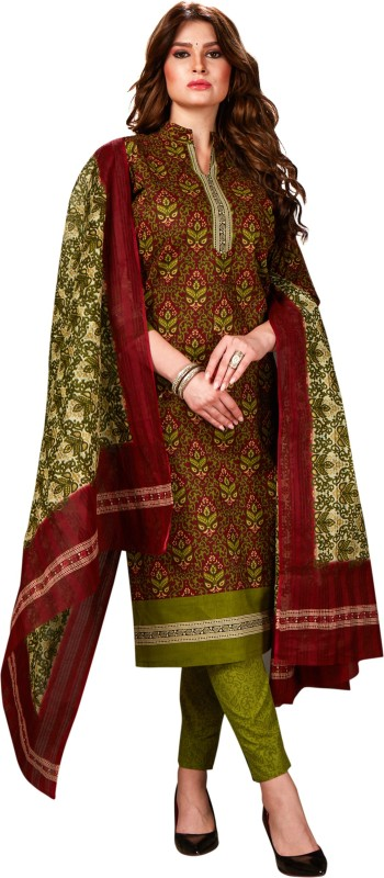 Jevi Prints Cambric Cotton Printed Salwar Suit Material(Unstitched)