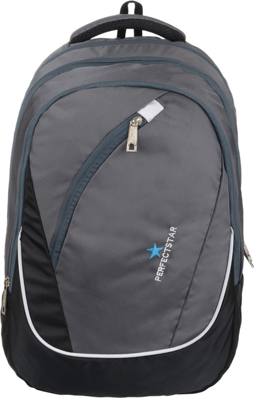 perfect star 15.6 inch Expandable Laptop Backpack(Grey)