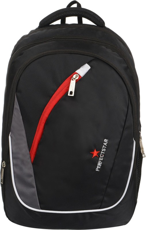 perfect star 15.6 inch Expandable Laptop Backpack(Black)