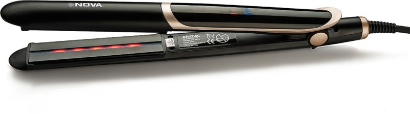 Nova NHS 889 2 in 1 Straight and Curl Infrared Hair Straightener(Black)