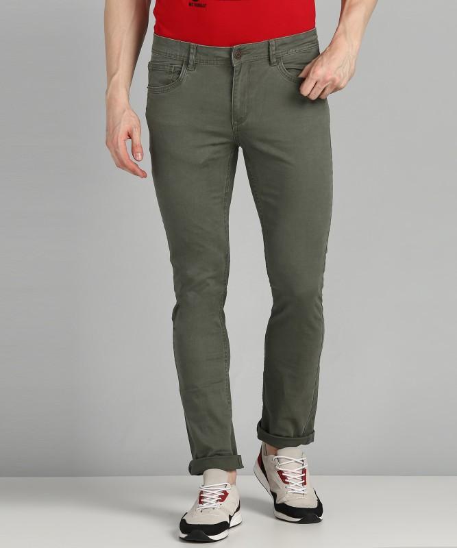 Flying Machine Slim Men Green Jeans