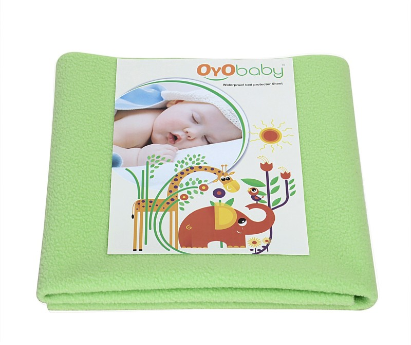 Oyo Baby Cotton Baby Bed Protecting Mat(Light Green, Extra Large)