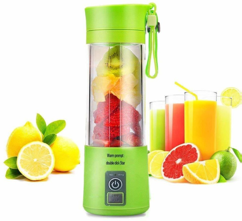 Royaldeals Portable and Rechargeable Battery Juicer Blender Fruit Juicer Maker/Blender USB Rechargeable (Multicolor) 220 Juicer Mixer Grinder(Multicolor, 1 Jar)