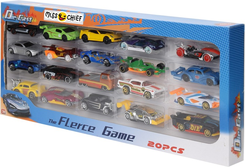 Miss & Chief Diecast Cars pack of 20(Multicolor, Pack of: 20)