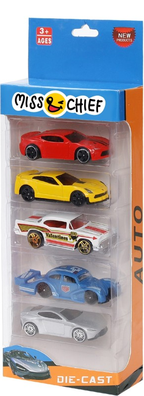 Miss & Chief Diecast Cars pack of 5(Multicolor, Pack of: 5)