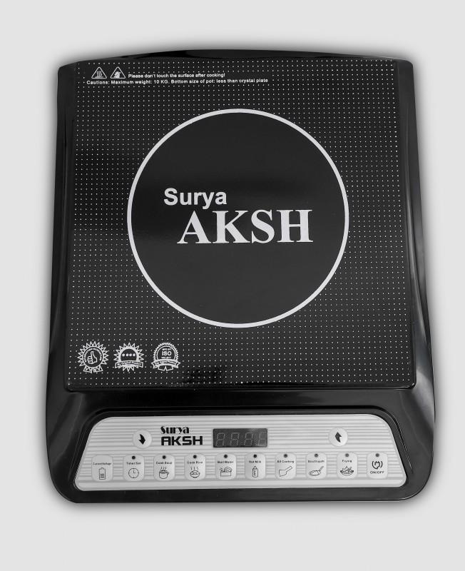 Surya Aksh A- 8 Induction Cooktop(Black, Push Button)