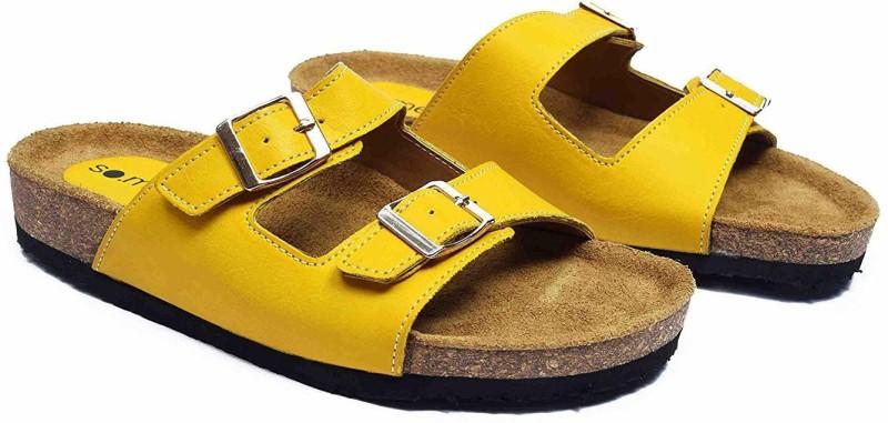 SO.ME Women Yellow Flats