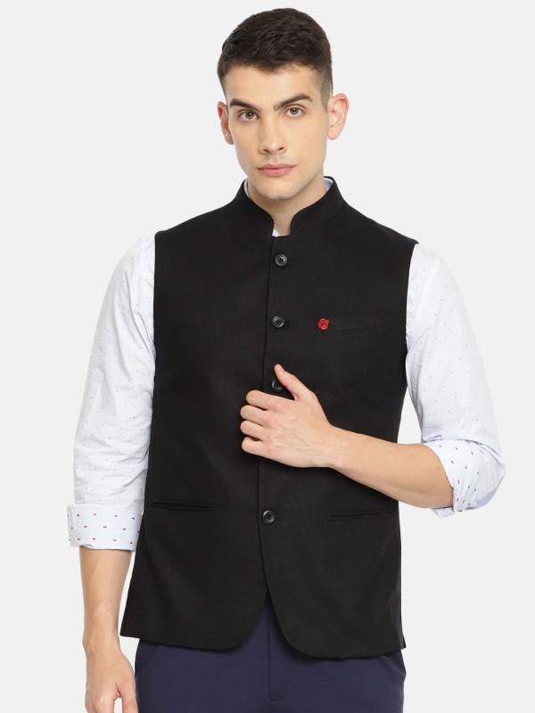 The Indian Garage Co Sleeveless Solid Men Jacket