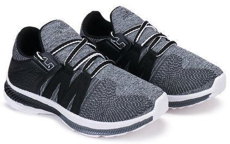 KATYAL Boys & Girls Lace Running Shoes(Grey)